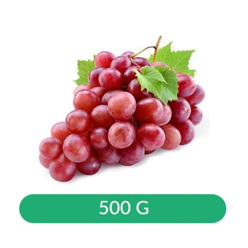 Grapes Red Globe with Seed South Africa 500 gm
