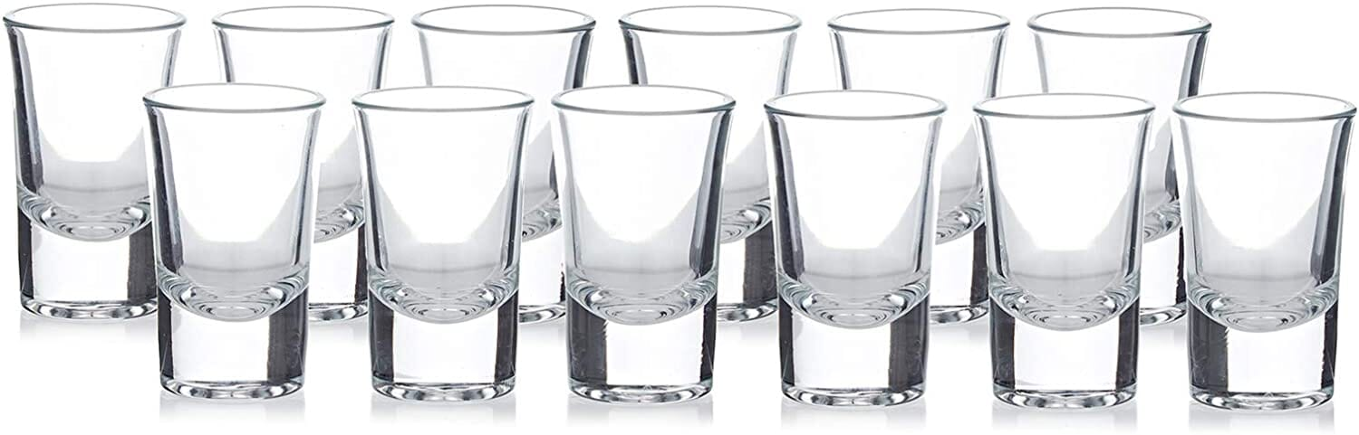 12pcs boston tequila vodka shot glasses