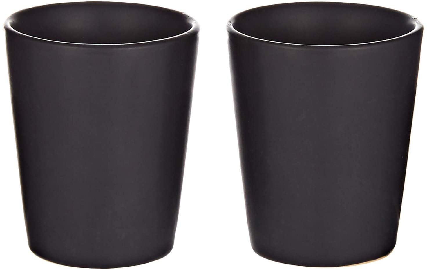 2pcs boston tequila vodka ceramic shot glasses black