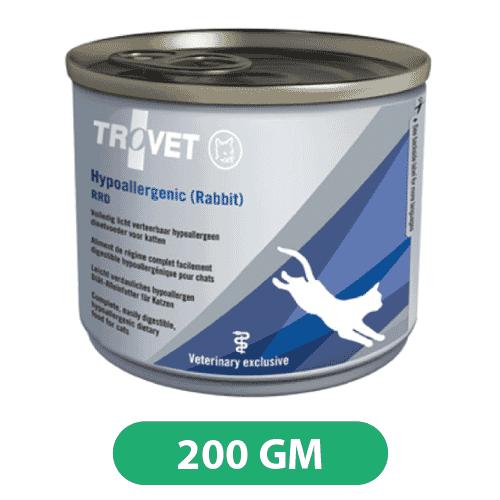 Trovet Hypoallergenic Rabbit Cat Wet Food Tin 200gms